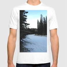 Wintertime in WaterValley Mens Fitted Tee White MEDIUM
