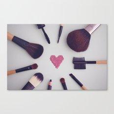 Make-up Brushes Canvas Print