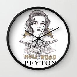 Marilyn Monroe by TOM PEYTON Wall Clock