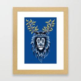 Deer Lion Framed Art Print