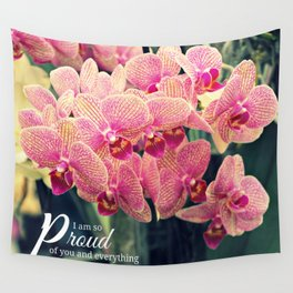 Orchids inspiration quote #2 Wall Tapestry