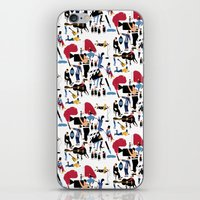 it crowd iPhone & iPod Skins featuring CROWD by Michela Buttignol