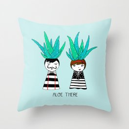 Aloe There Throw Pillow