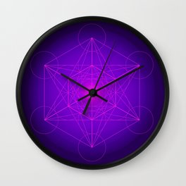 Metatron | Cube | Secret Geometry | Platonic | Matrix | Protects children Wall Clock