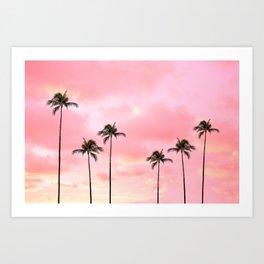 Palm Trees Photography | Hot Pink Sunset Art Print