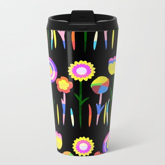 Happy flowers in spring Metal Travel Mug