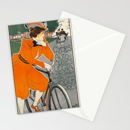 Vintage Art Nouveau Bicycle Poster Stationery Cards