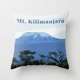 Mount Kilimanjaro Tanzania Throw Pillow