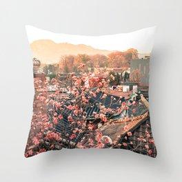 Seoul Rooftops - Bukchon Hanok Village, Korea Throw Pillow