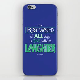 Laughter iPhone Skin