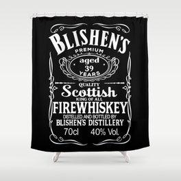 Bilshen's Fire Whiskey Shower Curtain