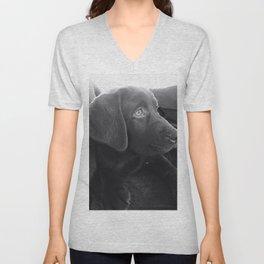 Labrador Puppy Portrait Unisex V-Neck