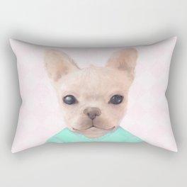 Portrait Of French Bull Dog Rectangular Pillow