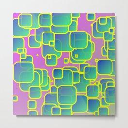 Vibrant colored squares Metal Print