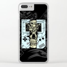 Gameboy Skull Clear iPhone Case