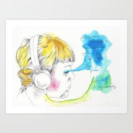 Listenting Celesta Art Print