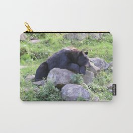 Contemplative Black Bear Carry-All Pouch