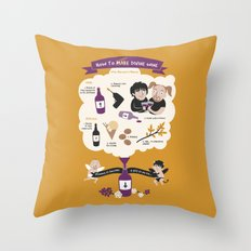 How To Make Divine Wine Throw Pillow