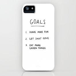 Goals iPhone Case