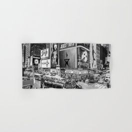 Times Square II (B&W widescreen) Hand & Bath Towel