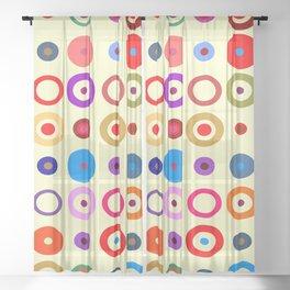 Op Art #7 Sheer Curtain