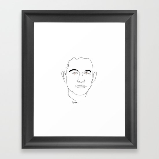 Portrait: Joseph Gordon-Levitt Framed Art Print