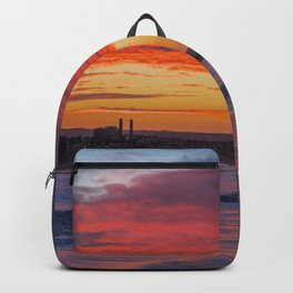 Red Clouds Over Huntington Beach Backpack