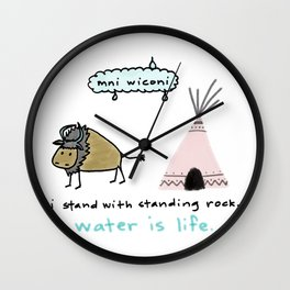 water is life. Wall Clock