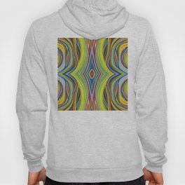 Retro Line Design of Many Colors Pastel on Suede by annmariescreations Hoody