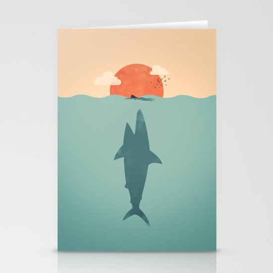 Shark Attack  Stationery Cards