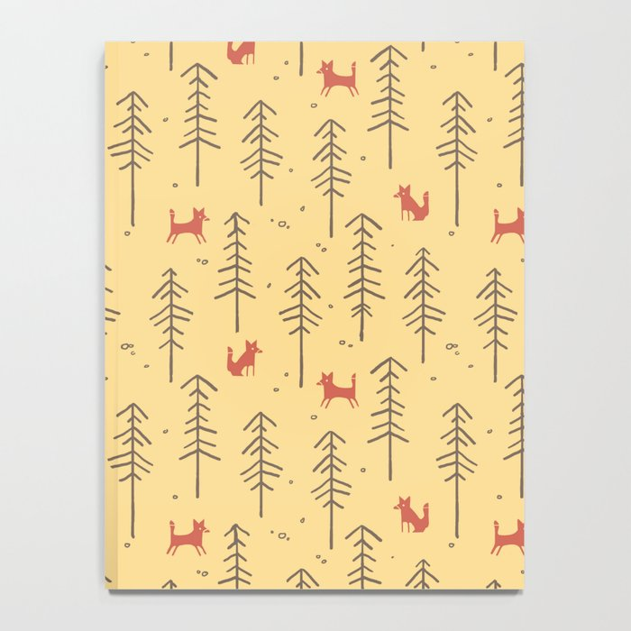 Fox hiding in the forest Notebook