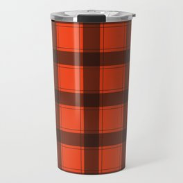 Classic Red Plaid Travel Mug