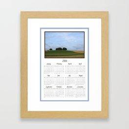 2013 Landscape Calendar Framed Art Print