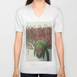 New Zombie line t-shirt my main grave zombie Unisex V-Neck