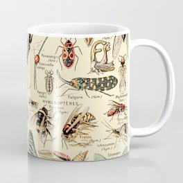 Vintage Insect Identification Chart // Arthropodes by Adolphe Millot XL 19th Century Science Artwork Coffee Mug
