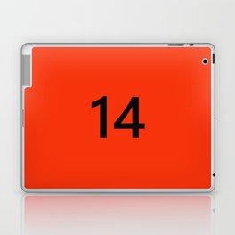 Legendary No. 14 in orange and black Laptop & iPad Skin
