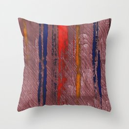 Bright red abstract painting Throw Pillow