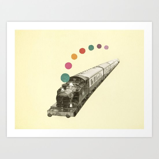 Rainbow Train Art Print