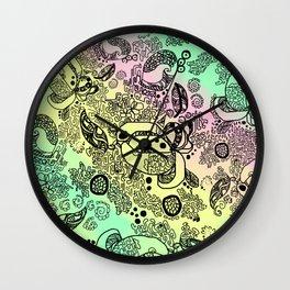 Pastel Jungel Wall Clock