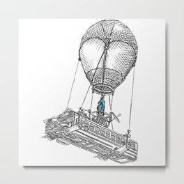 Fortnite Bus Drawing Metal Print