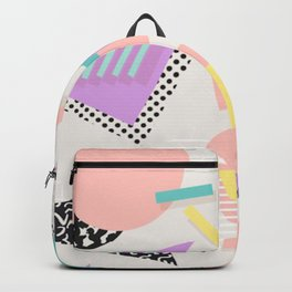 80s / 90s RETRO ABSTRACT PASTEL SHAPE PATTERN Backpack