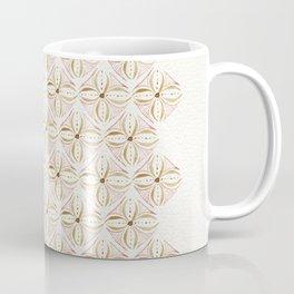 Rose Gold Watercolor Tile Coffee Mug