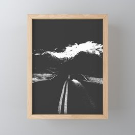 One Road Framed Mini Art Print