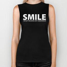 Smile [WHITE] Biker Tank