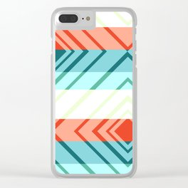 Diamond shadows and stripes Clear iPhone Case