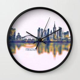 Tbilisi Skyline Wall Clock