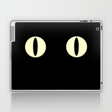 Cat Eyes (Black Cat) Laptop & iPad Skin