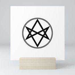 Men of Letters Symbol Black Mini Art Print