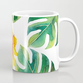 Monstera And Hibiscus Coffee Mug