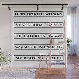 Feminist Statement Art, Stickers, Shirts, Mugs, Prints... Wall Mural